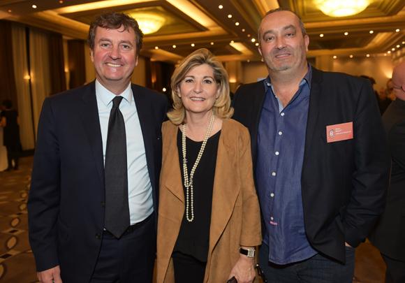 6. Hervé Bal (Editions HB), Chantal Partouche (Domaine le Lyon Vert) et Pierre Nallet (AnaHome Immobilier)