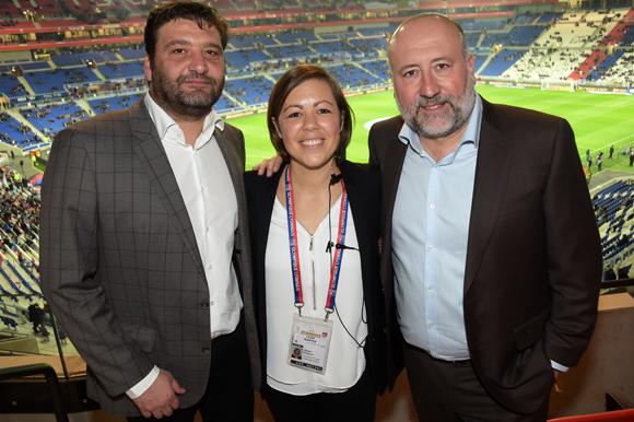 7. Marcel Prolange, Stéphanie Perret (OL) et Jean-Luc Remilly (Setreal)