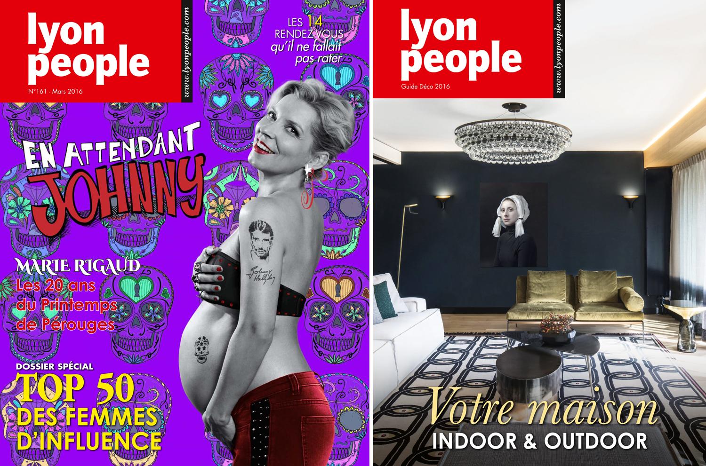 Top 50 féminin. Marie Rigaud en couverture de Lyon People