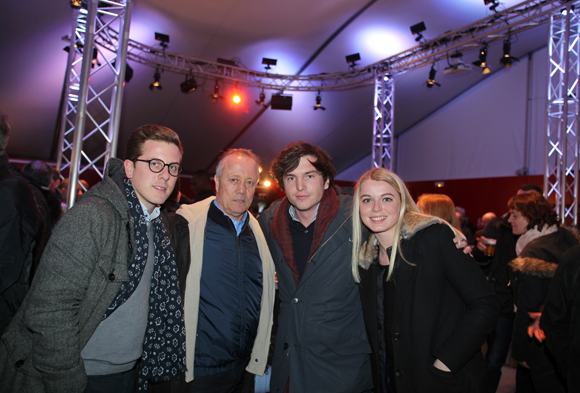 7. Guillaume Tissot (Backstage), Bernard Lacombe (Olympique Lyonnais), Marc-Antoine Ginon (LOU Rugby) et Laura Ferrier