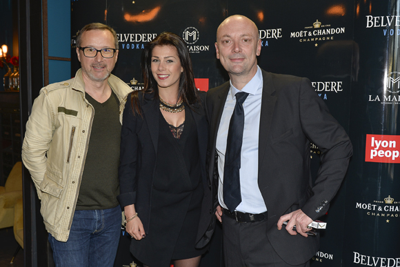 12. Jean-Christophe Grosshans (Radio Nostalgie), Wyam Chamoun et Jean-François Savoye (Lyon People)