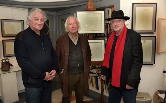 1. Les trois artistes Jean Claverie, Jean-Marc Requien et Alain Roche