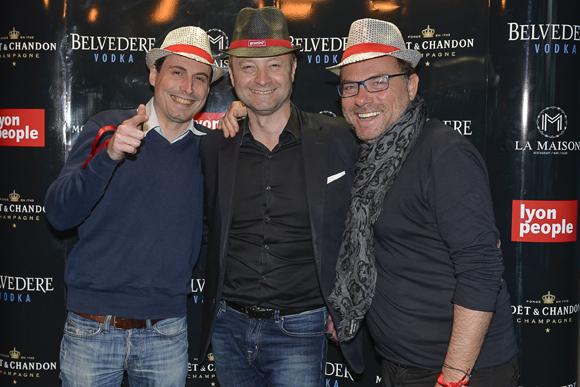 19. Franck Girardet (Invefi), Marco Polisson (Lyon People) et Pierre-Yves Gas (Plein Gas)