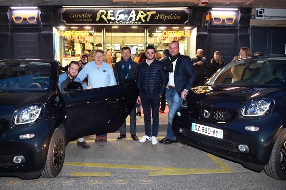 2. Florentin Robert, son père Marcel (Reg-Art), Laurent Bernardeau, Honorin Pecoult et Pierre–Antoine Fredon  (smart)