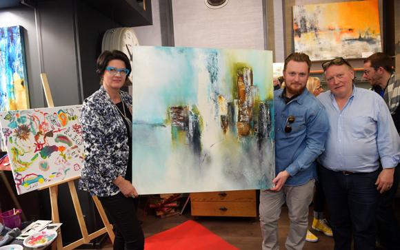 43. L'artiste peintre Fanny Grandjean, Florentin Robert et son père Marcel (Reg-Art)