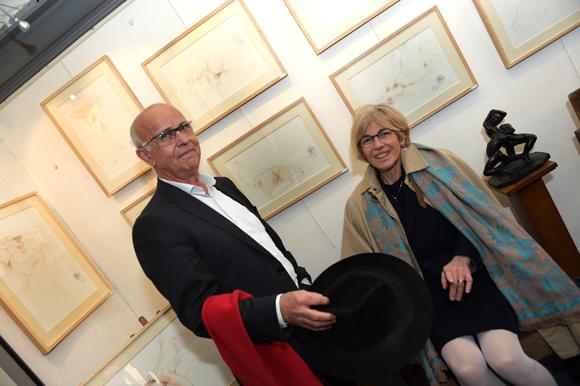 6. Yves Combet (Galerie de la Charité) et Marie-Catherine Lavaud