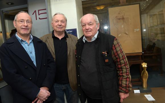 7. Jean-Claude Gauthier, vice-président de la Maison Ravier, Michel Bosse-Platiere et Pierre-Marc Campigli