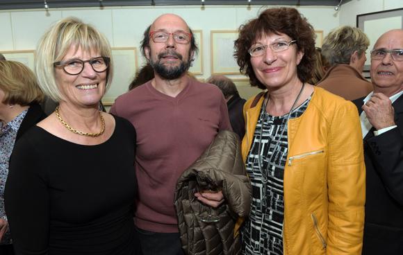 9. Françoise Combet, Gilles Choffin et Bernadette Farge
