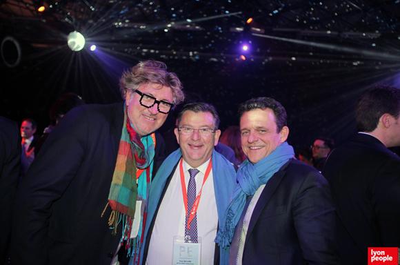 1.Hervé Kleczewski (Waoup), Paul Rolland, Président de Métallurgie rhodanienne et Laurent Fiard, Président du MEDEF Lyon-Rhône