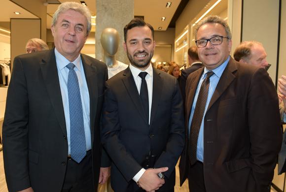 11. Maître Richard Brumm, adjoint aux Finances, Massimiliano Brunazzo et Denis Broliquier, maire du 2ème