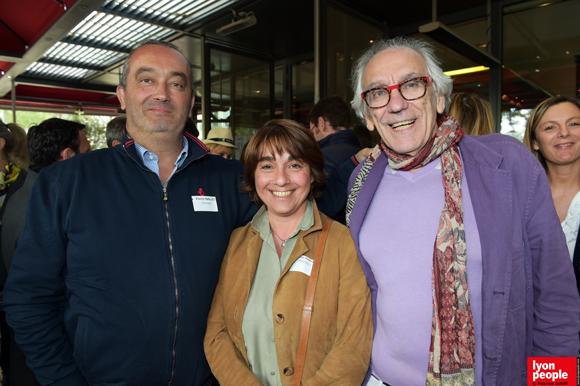 1. Pierre Nallet (Anahome), Nathalie Berberian (Innovacti) et Albert (Café du Pond)
