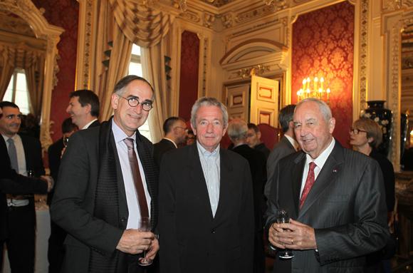 12. Pascal Danger, secrétaire général de la Chambre du Commerce du Beaujolais, François Mauguière, Président de la Fondation Neurodis et Jean-Paul Mauduy, président de la CCIR