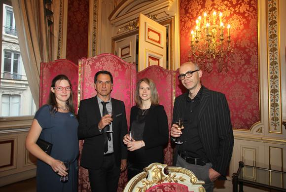 16. Colombine Russie Vernay (Fondation Neurodis), Franck Lavenne (Cermep), Marjorie Villien (Cermep) et Nicolas Costes (Cermep)