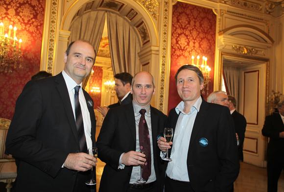 2. Le professeur Jérôme Honnorat, le professeur  Sylvain Rheims, et le professeur Stéphane Thobois (Neurologie CHU de Lyon)