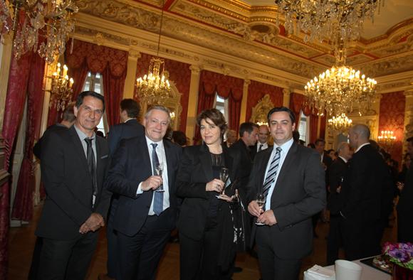 21. Franck Lavenne (Cermep), Jean-Marc Berlioz (Siemens Healthcare), Magalie Viallon (Créatis) et Antony Roche (Siemens)