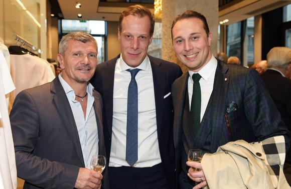 35. Richard Kalfon (Legend), Franck Fontaine (Hugo Boss) et Philippe Billon (Moreteau)