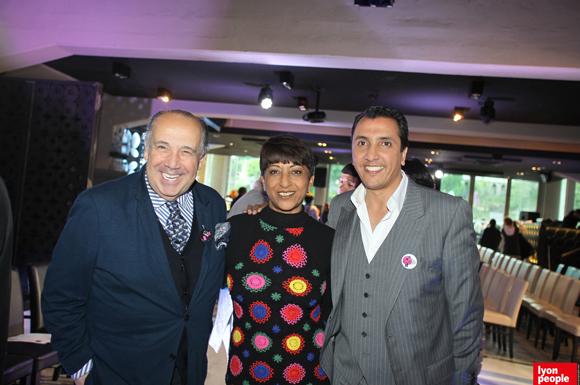 4. Le couturier Max Chaoul, Djamila Calla (C Com Calla) et Jamal Hammouche, directeur de Supdemod