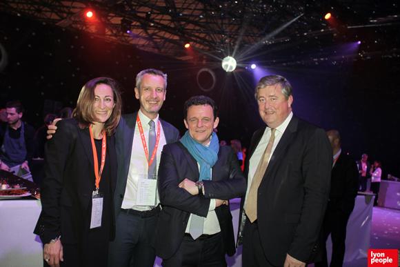 42.Sylvie Madamour (Syllaprod), Philippe Hassel (Apicil), Laurent Fiard, Président du MEDEF Lyon-Rhône et Benoit Soury, DG de La Vie Claire