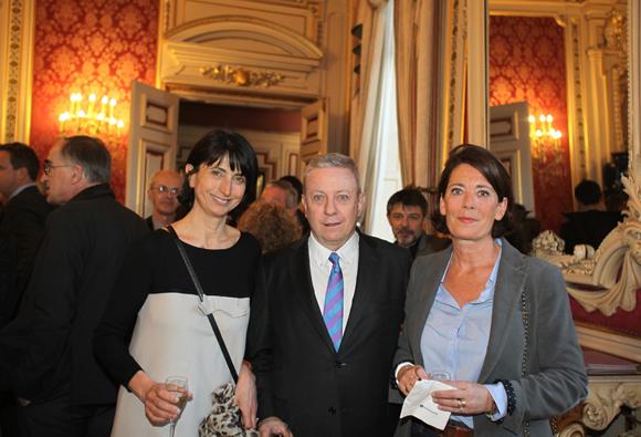 5. Anne-Marie Baezner (GL Events), Bernard Guth (UCBL) et Marion Beaufront (IHOP)