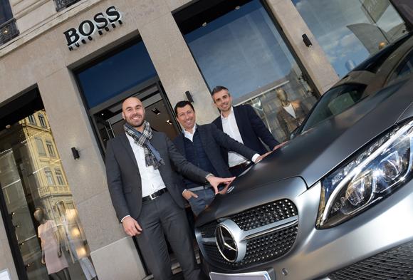 5. Frédéric Irles, Laurent Bernardeau et Adrien Roger (Mercedes-Benz Lyon)