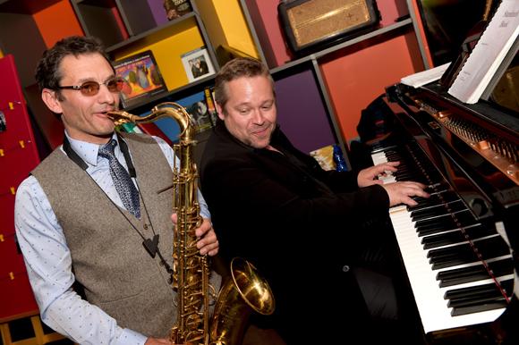 7. Le saxophoniste Mickaël Chevret et le pianiste Olivier Truchot