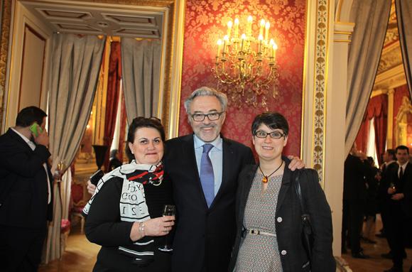 9. Isabelle Boivin (Ricard), Erick Roux de Bézieux (Syntagme) et son épouse Elodie Humeau, conseillère municipale