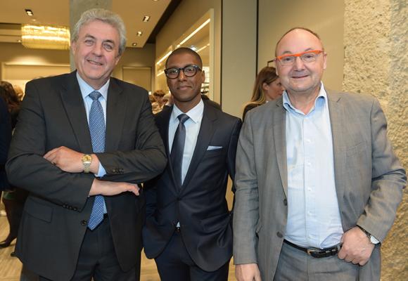 9. Maître Richard Brumm, adjoint aux Finances, Matthieu Tambo (Hugo Boss) et Gérard Angel (Les Potins d'Angèle)