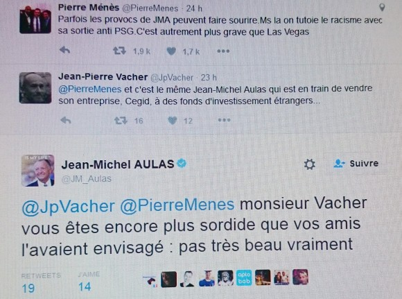 Aulas tweet lyon people