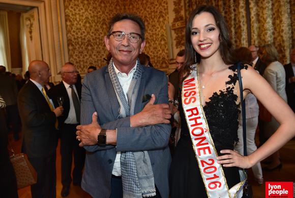 10. Jean-Pierre Gagneux (6ème Sens Immobilier) et Maeva Durand, Miss Rhône 2016