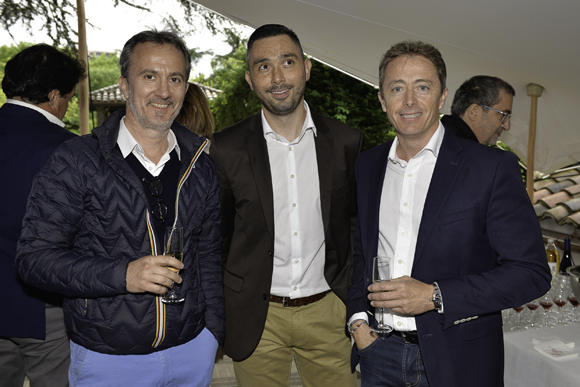 10. Marc Alloin (La Maison d'Anthouard), Guillaume (BMC) et Christophe Correra (Dentmaster)
