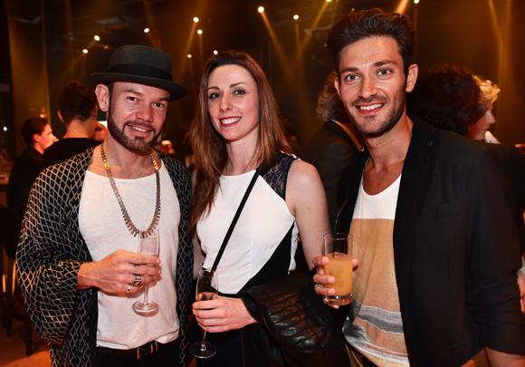 15. Les danseurs Chris Fionda, Sandra Frege et Raphaël Dunand