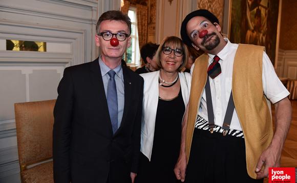23. Pascal Charmot, maire de Tassin, Michèle Jeleff et Mercredi Prochain (Docteur Clown)