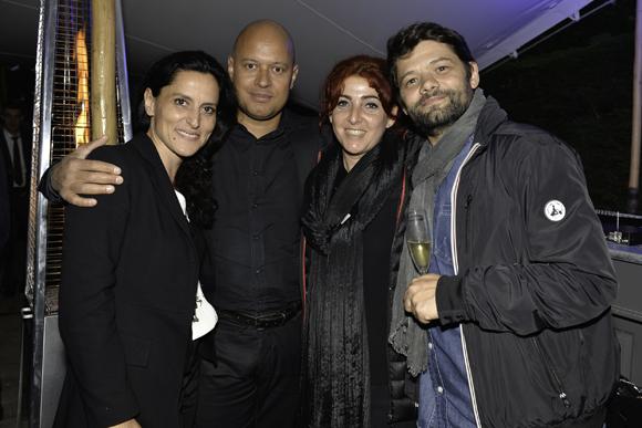 38. Perrine Robert et Olivier Attebi (Fiducial), Eric Jouve (Fiducial) et sa femme Muriel (Ligne 19)