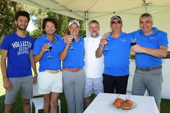 4. Hippolyte Vianney, Stéphane Cerdan, Georges Stal, Mathieu Viannay, Pierre Nallet et Michel Chenevat