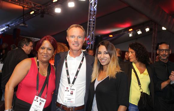 12. Souad Drabelsi (Groupe EM2C), Serge Rouvière (LOU Arbitrage) et Sophia Drabelsi (Rouge FM)
