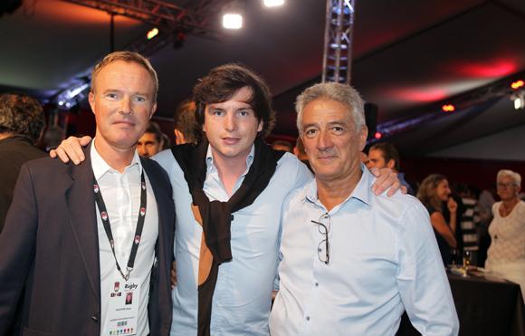 13. Serge Rouvière (LOU Arbitrage), Marc-Antoine Ginon (LOU Rugby) et Roger Girardon