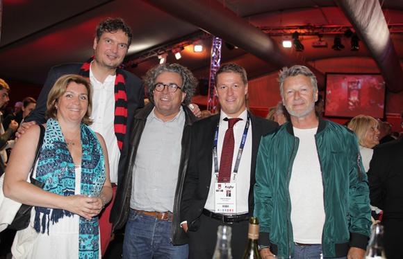 17. Isabelle et Christophe Veau-Cahon (GL Events), Jérôme Schmidt (GL Events), Mathieu Renaud (LOU Rugby) et Christophe Guerin (GL Events destination Paris)