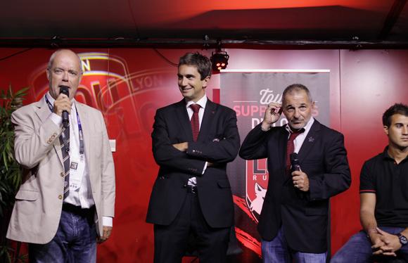 19. Simon Gillham, vice-président du club de Brive et Yann Roubert