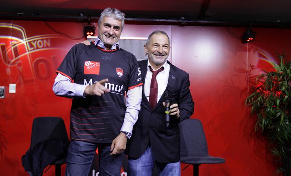 20. Michel Chenevat (Eiffage) et Jean-Paul Jacquet, speaker officiel du LOU Rugby