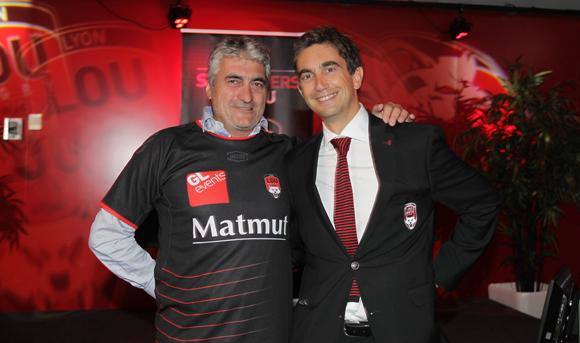 21. Michel Chenevat (Eiffage) et Yann Roubert, président du LOU Rugby