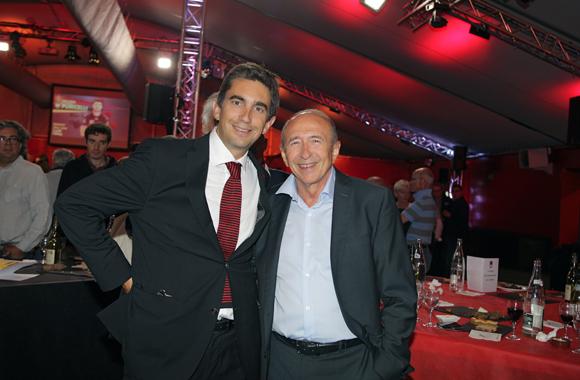 27. Yann Roubert, président du LOU Rugby et Gérard Collomb, sénateur-maire de Lyon