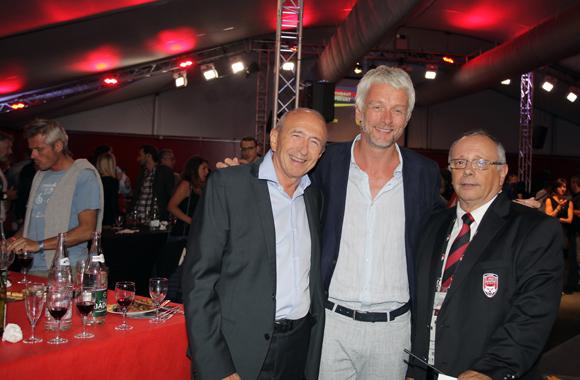 28. Gérard Collomb, sénateur-maire de Lyon, Hubert-Julien Laferriere, maire du 9ème et Léandre Borbon (LOU Rugby)