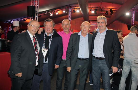 30. Léandre Borbon (LOU Rugby), Olivier Ginon, président de GL Events, Bruno Trompille (Iliade) Gérard Collomb, sénateur-maire de Lyon et Michel Chenevat (Eiffage)