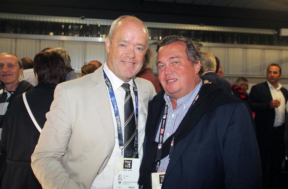 32. Simon Gillham, vice-président du club de Brive et Olivier Ginon, président de GL Events