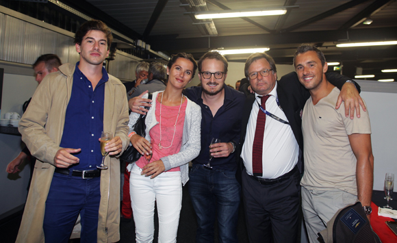 36. Diego Isaac (Navya), Céline Sartou, Julien Carrier (Clinique Saint Vincent de Paul), Franck Isaac-Sibille (Vice-Président LOU Rugby) et Frédéric Sartou (Navya)