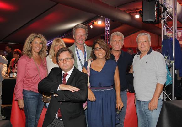 9. Franck Isaac Sibille, vice-président du LOU Rugby et ses invités
