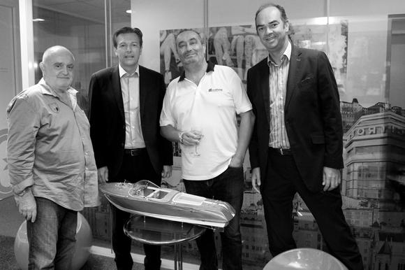1. Francis Allimant (Cime), Pascal Blache, maire du 6ème, Pierre Nallet (AnaHome Immobilier) et Benoît Licour (Maïa)
