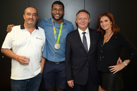 13. Pierre Nallet (AnaHome Immobilier), Mehdy Metella, Thierry Braillard, secrétaire d'Etat aux Sports et son épouse Sophie