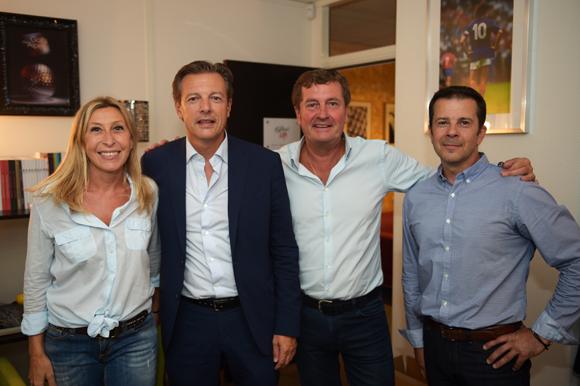 20. Martine Bal (Unique Hotel Spa), Pascal Blache, maire du 6ème, Hervé Bal (Editions HB) et Jean-Jacques Robles (Almarena)