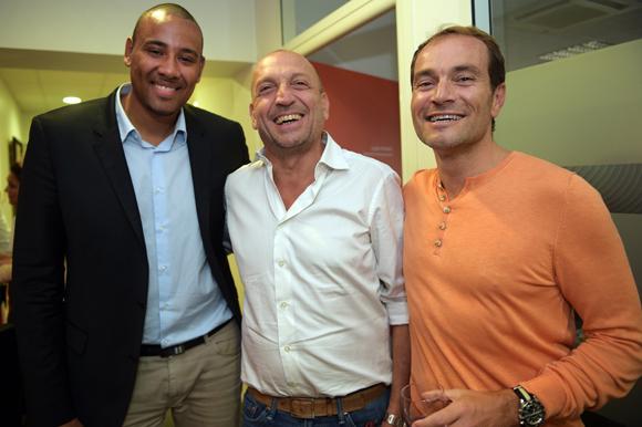3. Gaëtan Muller, président de l'ASVEL, Jérôme Emsallem (Anabases) et Serge Gradante (Ckleen)